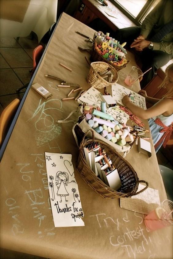 craft table idea for a wedding