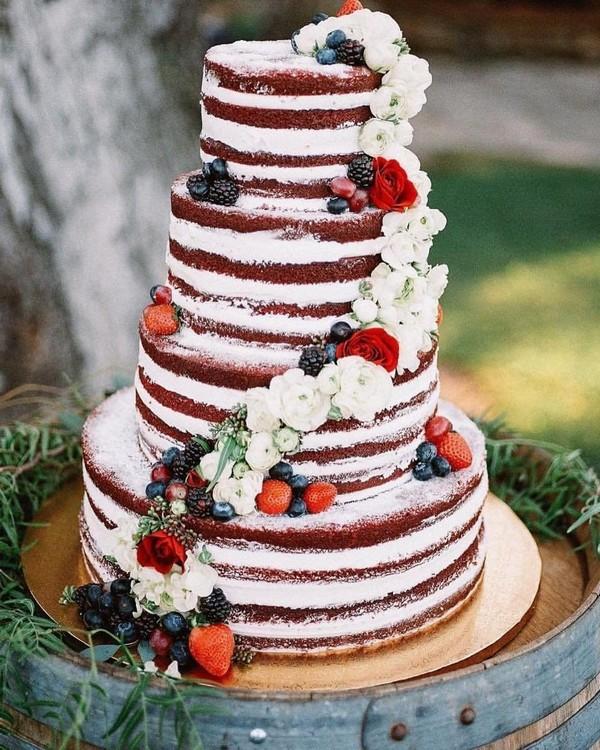 rustic naked wedding cake 2