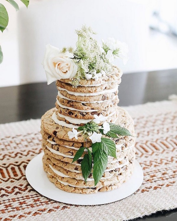 rustic naked wedding cake 20