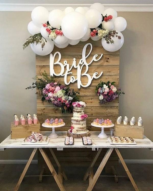 rustic white balloons wedding reception11