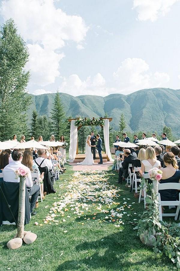mountaintop wedding ceremony in Aspen