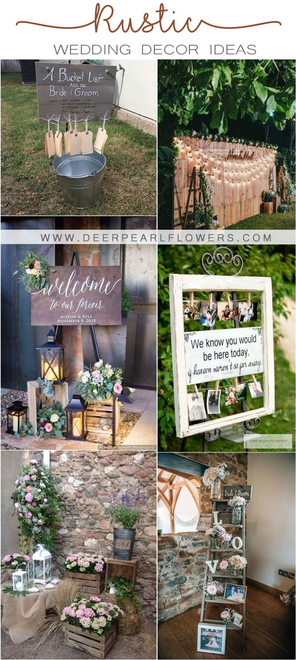 rustic country wedding decor ideas