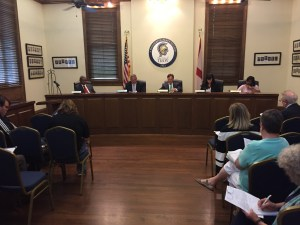 Troy City Council in session