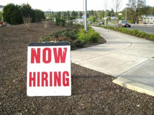 Sign - Now Hiring
