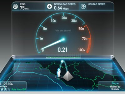 Diagnostica della velocita' ADSL con Speedtest.net