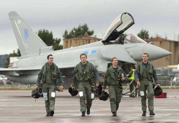 Eurofighter Typhoon replaces Tornado F3 in No. 6 Squadron of the Royal Air Force