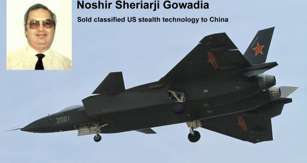 Noshir Gowadia father of Chinese stealth technology