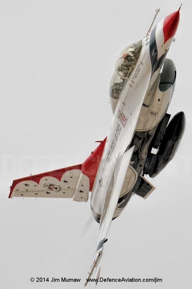Thunderbird 2 departs Nellis AFB