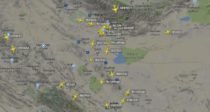Dozens of Aircraft with No Call-signs and Destination are leaving Iran. Are the powerful and the rich fleeing Iran?