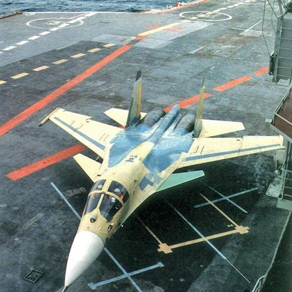 The Su-34 actually began its life as a carrier plane