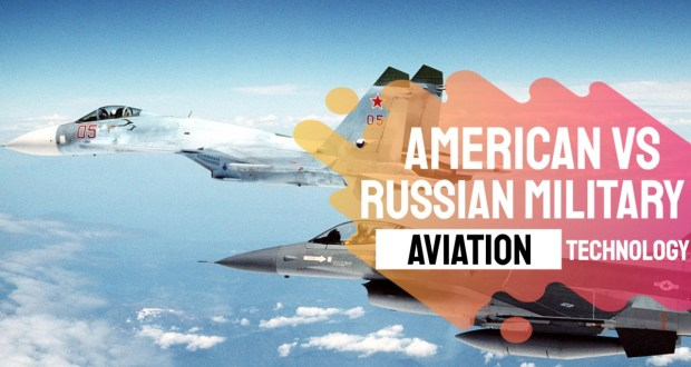 What is the fundamental difference between American and Russian military aviation technology?