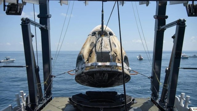 SpaceX Spacecraft Safely Lands With NASA Astronauts
