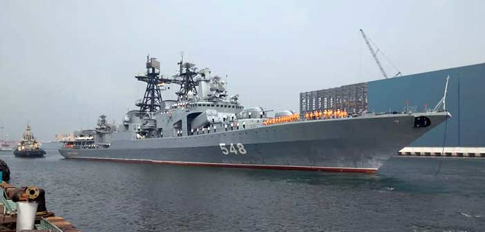 Russian warships arrive in India for naval exercise Indra Navy 2018 2