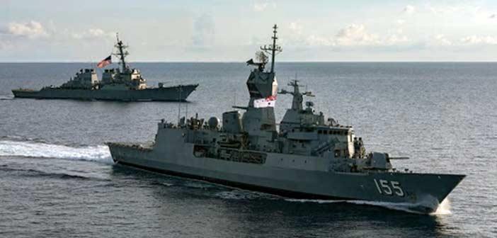 US Navy USS John S McCain HMS Ballarat