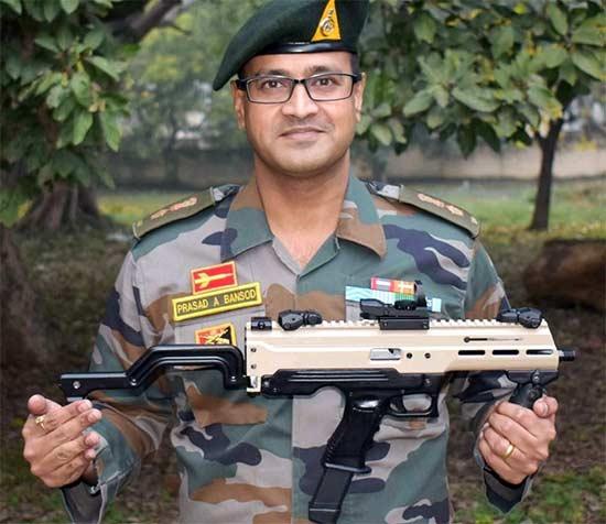 India Army Asmi Machine Pistol