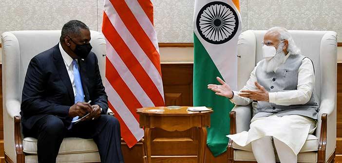 Lloyd Austin with PM Modi