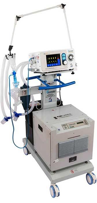 BEL manufactured Ventilator.