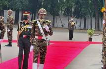 Gen MM Naravane pays tribute at 1971 National War Memorial in his Bangladesh Visit.,