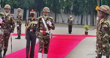Gen MM Naravane pays tribute at 1971 National War Memorial in his Bangladesh Visit.,