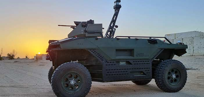 IAI REX MK II unmanned land vehicle.