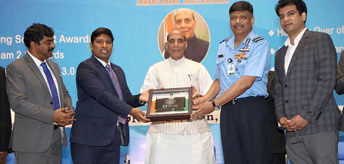 Defence Minister hands over video processing tech to IAF.