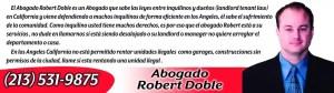 Abogado de Desalojo en Los Angeles Robert Doble