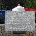 Plaque commémorative pour le départ des poilus ardéchois du 61e régiment d'infanterie vers le front en 1914 sur la place d'armes de la caserne Rampon à Privas