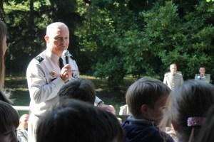 Le Gouverneur militaire de Lyon en visite lors de la représentation de la musique de l'infanterie