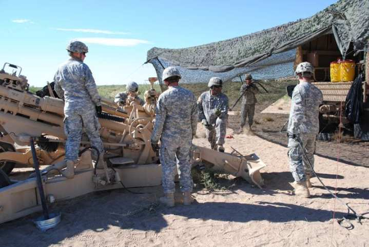"Alpha Battery completes a ""dry fire"" mission during AETF testing at White Sands Missile Range. Photo by Scott R. Gourley."
