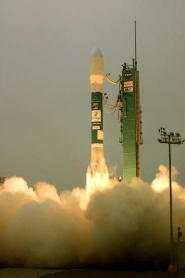 GeoEye-1 launches for space. Photo courtesy of The Boeing Company.