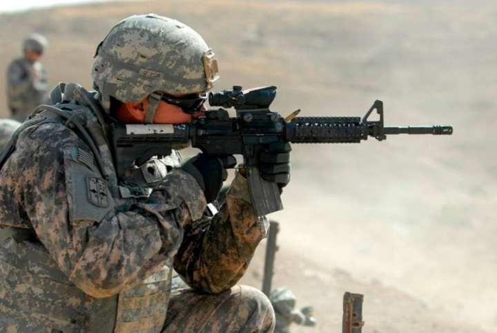 U.S. Army Spc. Francisco Jimenez, an infantryman assigned to Personal Security Detail, 4th Advise and Assist Brigade, 1st Cavalry Division, fires a round from an M4 carbine during marksmanship sustainment training in Mosul, Iraq, Sept. 29, 2010. The Army released an RFP for an Individual Carbine replacement on the last day of January 2011. U.S. Army photo by Pfc. Angel Washington