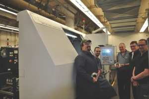 Watervliet arsenal team and grinding machine