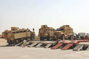 MRAP retrograde drawdown Iraq