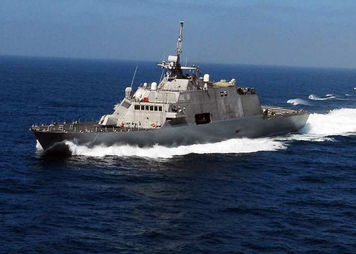 LCS 1 at sea