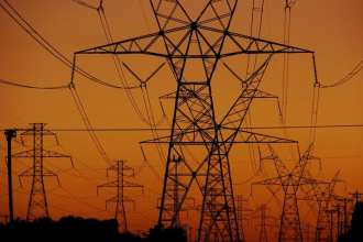 High tension power transmission towers