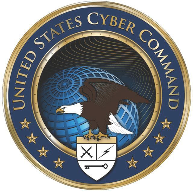 The new U.S. Cyber Command logo. The command joins individual service cybersecurity efforts in a unified, coordinated defense.