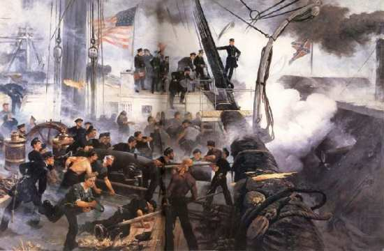 Admiral David G. Farragut at the Battle of Mobile Bay