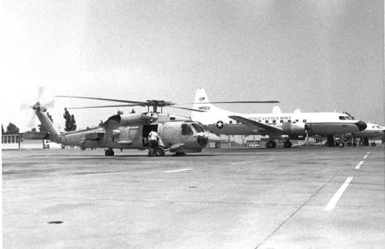 SH-60B with C-131 at Sigonella