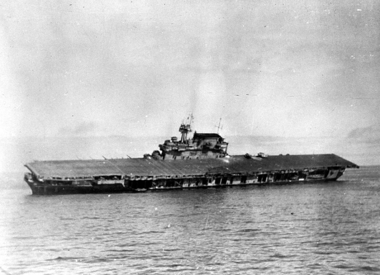 USS Yorktown Sinking
