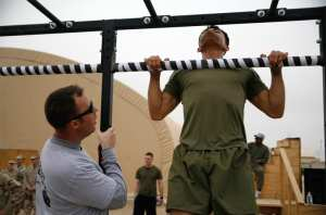 CrossFit pull-ups during the CrossFit Leatherneck 2011 Fitness Throwdown