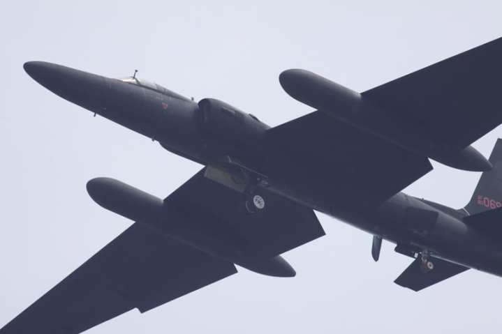 A U-2 over Iwakuni, Japan, landing