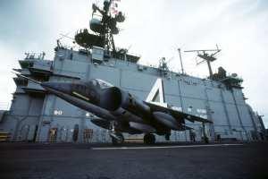 AV-8A Harrier Aboard USS Nassau