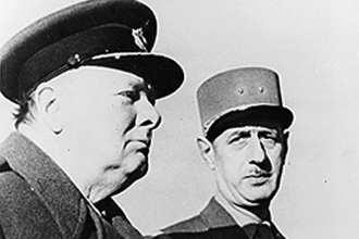 Winston Churchill and Charles de Gaulle during World War II
