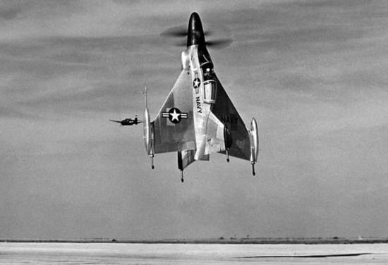 Convair-XFY-1 Taking Off At NAAF Brown Field 1954