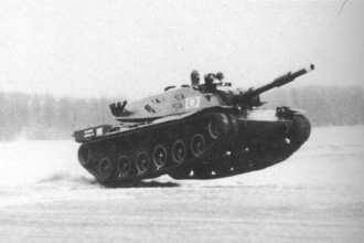 MBT-70 Airborne During Aberdeen Speed Trial