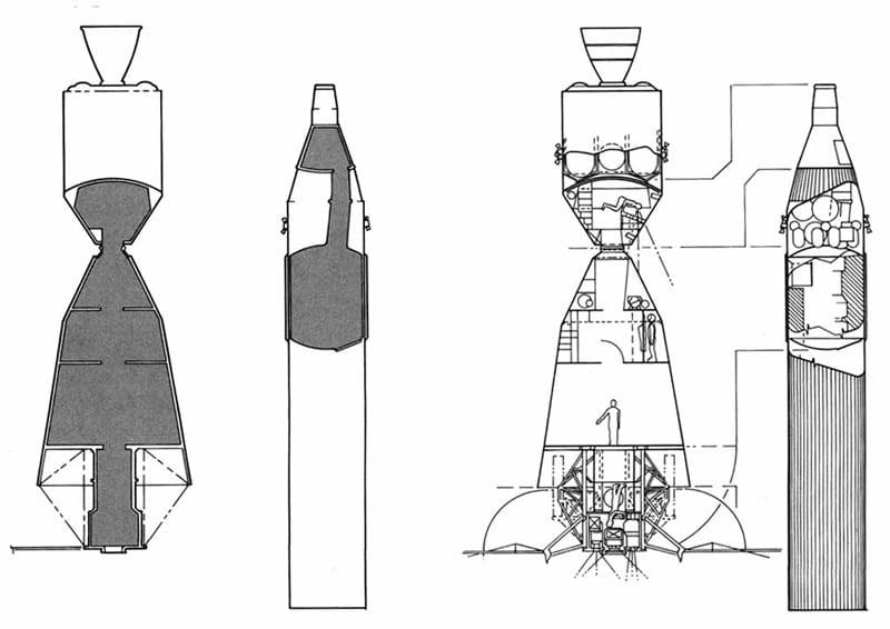 NASA MOL Apollo GA drawings