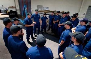 Bernard C Webber unit briefing at Opa Locka