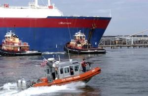 Security escort of LNG Tanker
