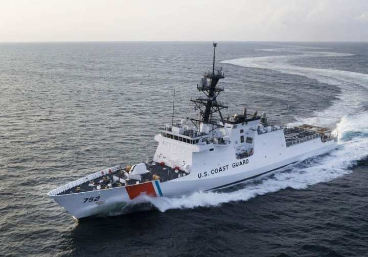 CGC Stratton in sea trials