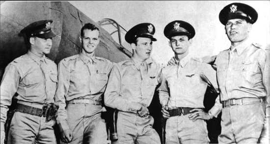 2nd Lt. Harry Brown, 2nd Lt. Philip M. Rasmussen, and 2nd Lt. Kenneth M. Taylor